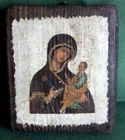 Heiligenbildchen auf Holz