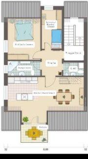 Maisonettewohnung mit offener Galerie EBK