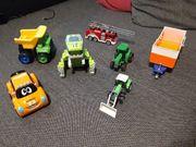 7x verschiedene Spielzeugautos Anhänger