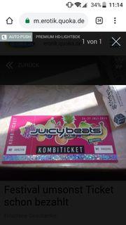 Ticket umsonst für Festival jucy
