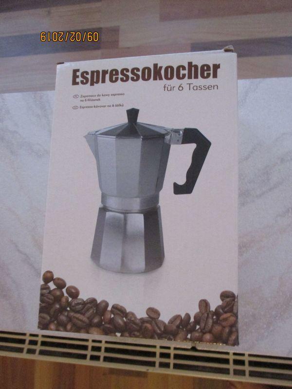espresso kocher neu zu verkaufen