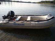 Schlauchboot mit Aussenboarder 15Ps