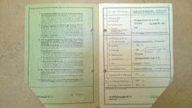 Oldtimer, Klassiker - KFZ Brief Original Zündapp Typ