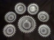 7 Teiliges Service Glasschalen mit Kugelrand
