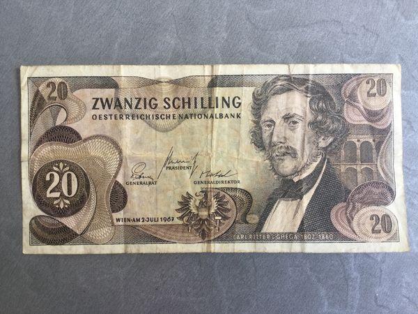 20 Schilling Banknote Carl Ritter