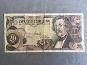 20 Schilling Banknote Carl Ritter