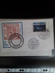 Briefmarken u Briefkuvert Sammlung DDR