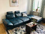 Couch Leder Ole Gunderson Türkis