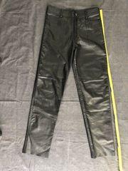 Schwarze Lederhose Lederjeans für Männer