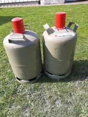 2 Gasflaschen grau 11 kg