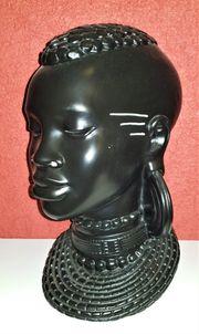 Afrikanischer Kopf Büste Skulptur Afrika