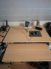 Schreibtisch inkl Ecke Laptoptisch Lampeund