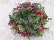 buttlers Weihnachtskranz grün rot glitzer