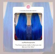 Blaue Haare färben lassen professionell