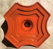 70er Jahre Deckenlampe Keramik Space