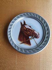 Pferdeteller Zirteller Teller Porzellan