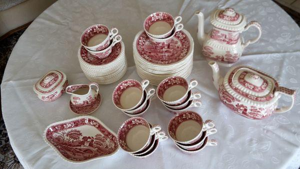 Spode Copeland Pink Tower Kaffeegeschirr