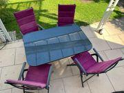 Gartentisch mit 4 Stühlen