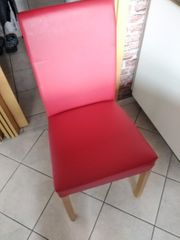4 rote küchenstühle