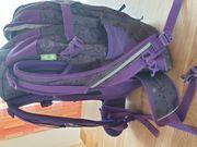 Satch Schulrucksack Sporttasche lila grau