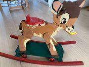 Disney Bambi Holzschaukelpferd Schaukelpferd Rolltier