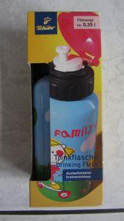 NEU Tchibo Alu Trinkflasche Family