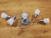 Deckenleuchte mit 5 LED-Spots inkl