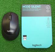 Logitech M330 SilentPlus PC-Maus schwarz