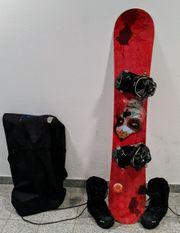 Damen Snowboard Softbindung und Snowboard-Schuh