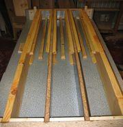 Kompostanlage Schalung für Betonpfosten