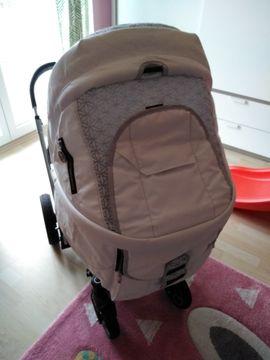 Kinderwagen - Hartan Kombi Kinderwagen Leder weiss