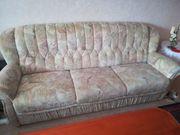 Couch ausziehbar und 2 Sessel