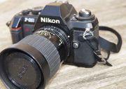 NIKON F301 Kamera mit Sigma
