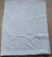 Bezugsstoff Auflage Tischdecke wollweiß 130