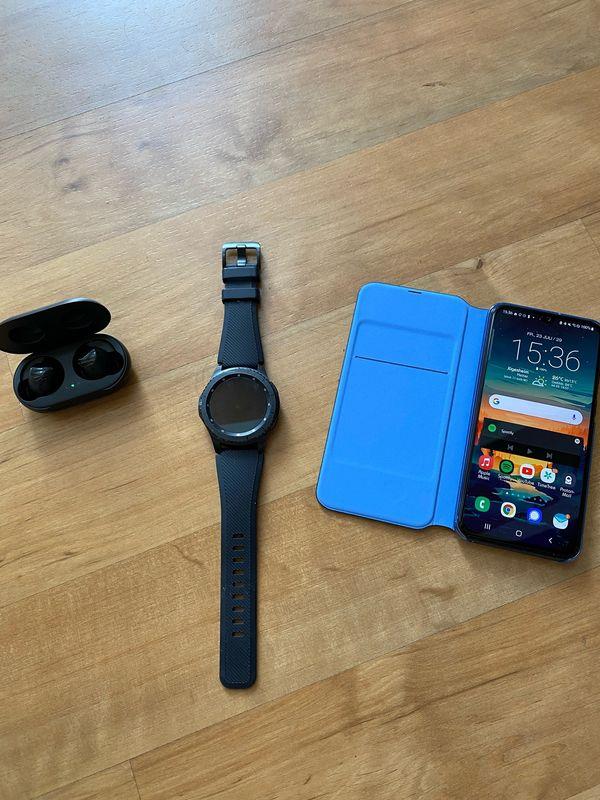 Samsung Galaxy Komplettsett: A40, S3 Gear Frontier u. Galaxy Buds!