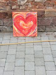 Bild Herz auf Holzrahmen
