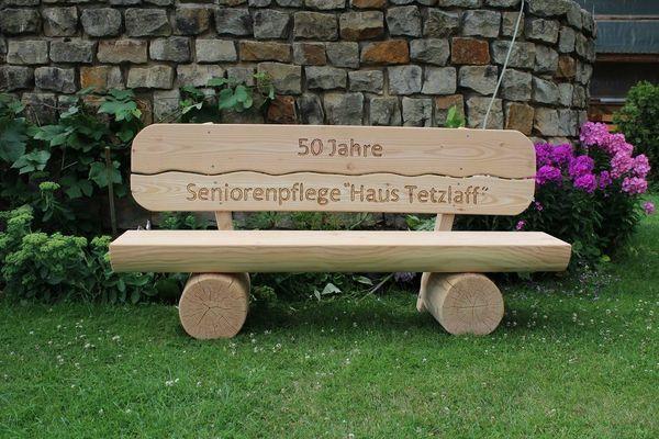 Gartenbank aus Lärchenholz