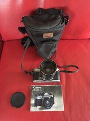 Canon AE-1 Spiegelreflexcamera mit Tokina