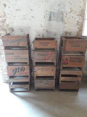 Seltene Bierkisten Weinkisten aus Holz