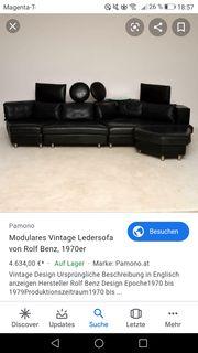 Modulares Vintage-Ledersofa von Rolf Benz