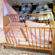 Kinderbett Bettstadl Babybett mit Ausstattung