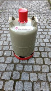 Propangasflasche Tauschflasche 11kg grau leer
