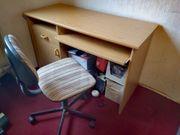 Studenten-Schreibtisch mit verstellbarem Stuhl
