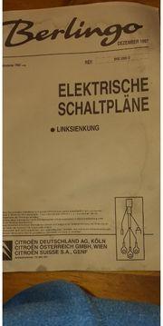 Orginal elektrische Schaltpläne Citroen Berlingo
