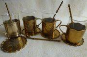 Messing-Tee und Grog Gläser GILDE