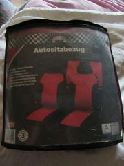 11-tlg Set Autositzbezüge schwarz-rot Autoschonbezüge
