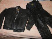 Motorrad Anzug Leder Gr 50