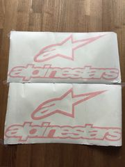2 Alpinestars Aufkleber 60x28 orange