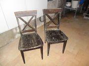Verschenke 2 solide geleimte Buchen-Stühle