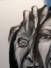 Bild Gemälde Handgemaltes Acrylbild Scream